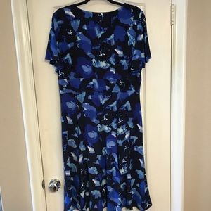 Chaps Dresses - Chaps size XL flutter sleeve jersey dress